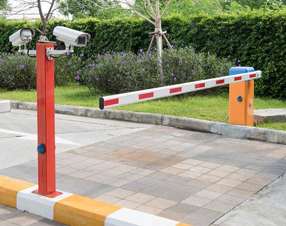 automated barrier and CCTV