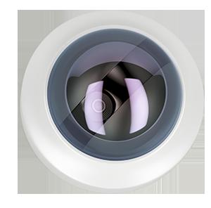 installation of white CCTV camera Title: CCTV camera on white ceiling